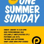 One Summer Sunday Gig Poster